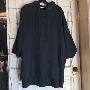 Zara Trafaluc Black Long Hooded Sweatshirt Size M
